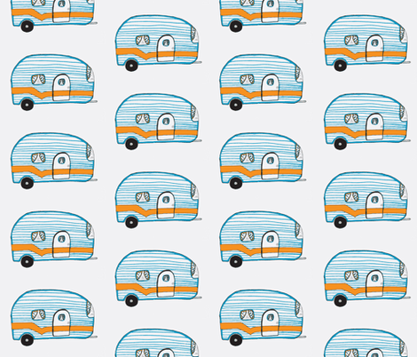 The Magician's Trailer fabric by cafethreefeathers on Spoonflower - custom fabric