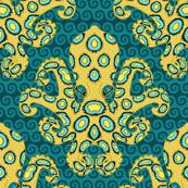 Blue-Ringed Octopus on Cobalt