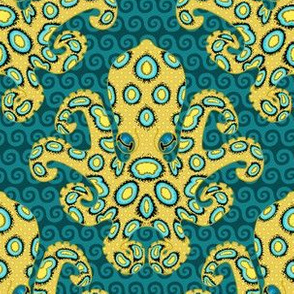 Blue-Ringed Octopus on Cobalt