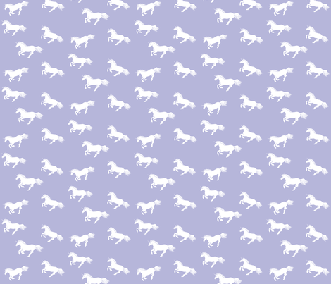 Unicorn Stampede Lavender fabric by thistleandfox on Spoonflower - custom fabric