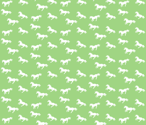 Unicorn Stampede Apple fabric by thistleandfox on Spoonflower - custom fabric