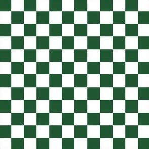 Green and White Checkered