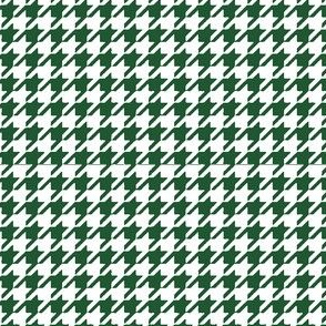 Green and White Houndstooth