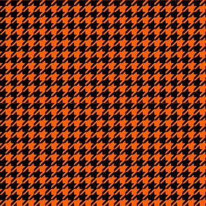 Orange and Black Houndstooth