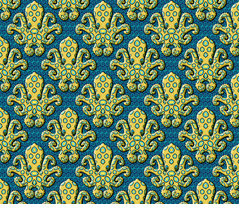 Blue-Ringed Octopus - Royal Blue fabric by chantal_pare on Spoonflower - custom fabric