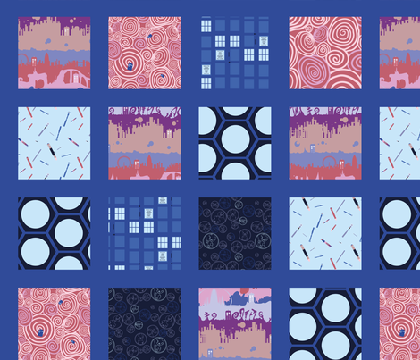 Cheater Quilt Timey Wimey - TimeVortex fabric by aliceelettrica on Spoonflower - custom fabric