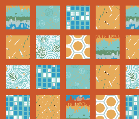 Cheater Quilt Timey Wimey - AlienPlanet fabric by aliceelettrica on Spoonflower - custom fabric