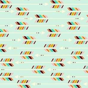Small Arrows: Horizontal Mint