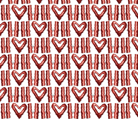 bacon_love fabric by teetse on Spoonflower - custom fabric