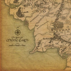 Middle Earth Map Small