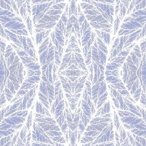 White Leaf Veins on Blue © Gingezel™