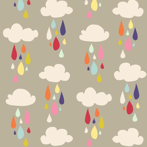 April Showers: Rain Clouds fabric by jennifercolucci on Spoonflower - custom fabric