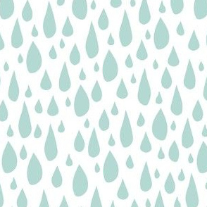 April Showers: Teal Rain Drops