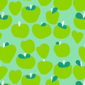 Green Apples Fabric Design by Samantha Barnes