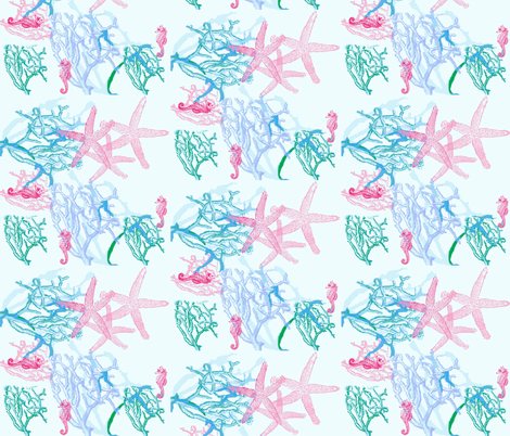 Coral fabric by firedryad1 on Spoonflower - custom fabric