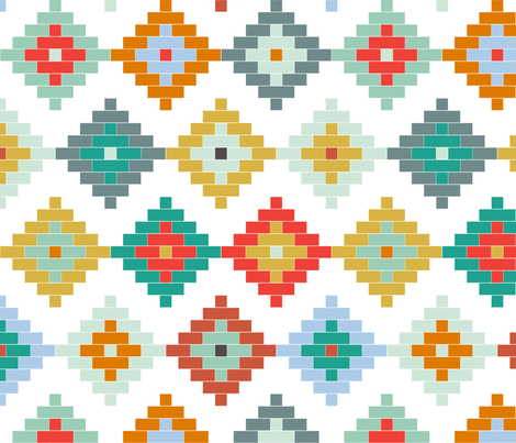 Winter Moroccan fabric by mrshervi on Spoonflower - custom fabric