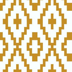 mustard pixelated chevron