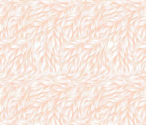 FUR on Peach fabric by thistleandfox on Spoonflower - custom fabric