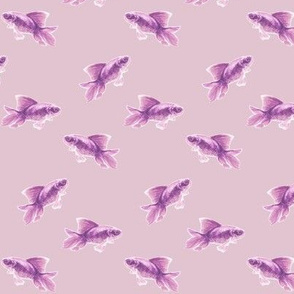 Purple Fish on Faded Mulberry