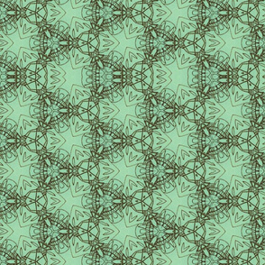 Turquoise triangle motif