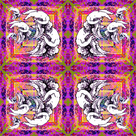 72_Butterflies_Angels_n_Hearts__set_b_ fabric by phosfene on Spoonflower - custom fabric