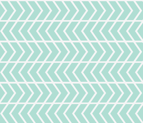 chevron stripe mint railroaded fabric by ninaribena on Spoonflower - custom fabric