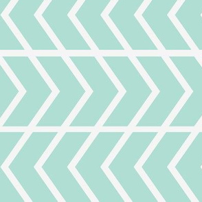 chevron stripe mint railroaded