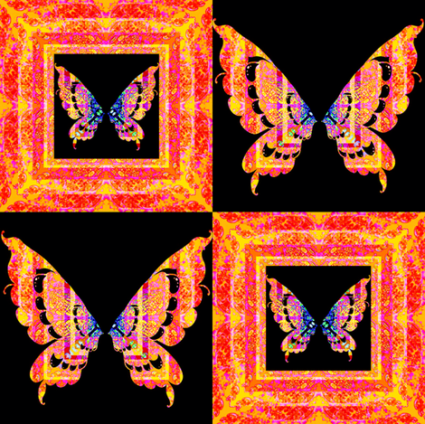 48_Butterflies_Angels_n_Hearts__set_b_ fabric by phosfene on Spoonflower - custom fabric