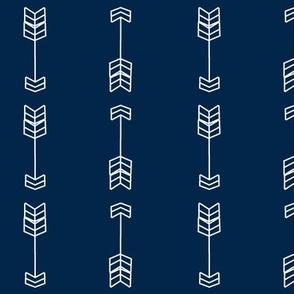 Bold arrows Navy