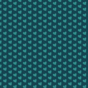 Little Hearts {Navy and Teal}