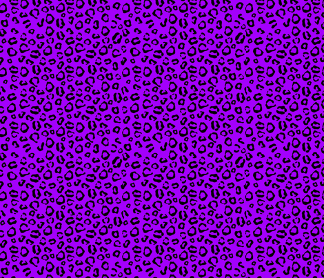Purple and Black Leopard Print fabric by poofhawk on Spoonflower - custom fabric