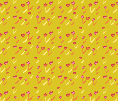 SpringRain_hottulips fabric by jtterwelp on Spoonflower - custom fabric