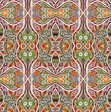 Everything's Coming Up Daisies fabric by edsel2084 on Spoonflower - custom fabric
