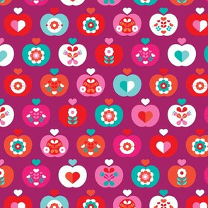 Fantastic freshtastic colorful flower apple pattern