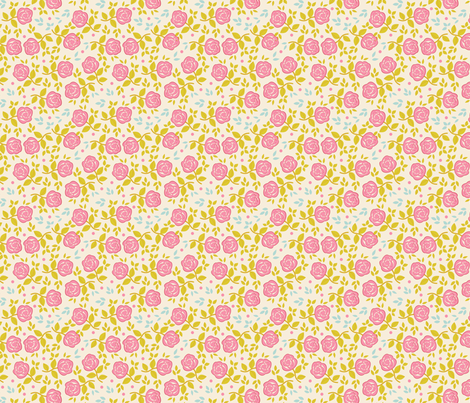 Shabby Chic Roses Ditsy fabric by eppiepeppercorn on Spoonflower - custom fabric