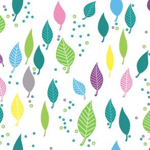 My springtime leaf curtain
