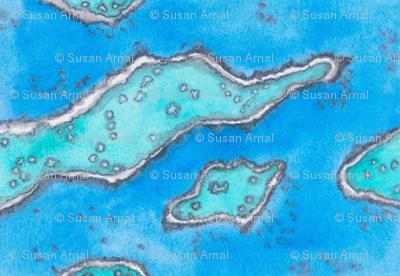 Grt Barr. Reef aerial view horiz.