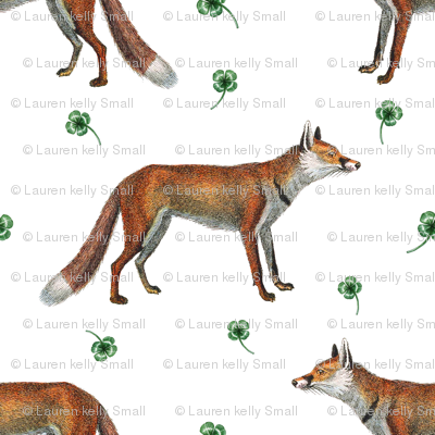 Fox and Four Leaf Clover, Small Version