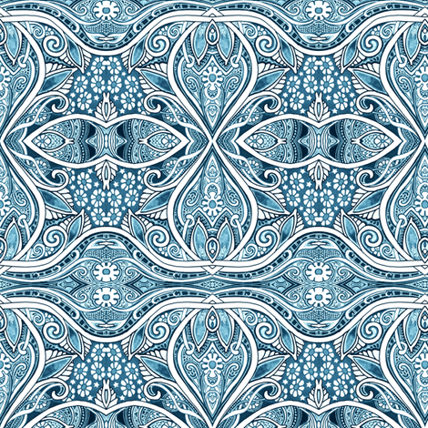 Revenge of the Blue Daisies fabric by edsel2084 on Spoonflower - custom fabric