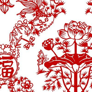 Chinese Papercut Damask