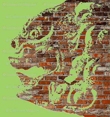 lion dog brick