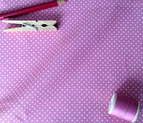 Floral Pink Tiny Polkadot /Quilt1