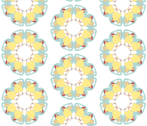 Mandala Chicken Quiltie fabric by cathymcg on Spoonflower - custom fabric