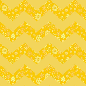 Yellow Chevron print