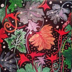 Festive leaves
