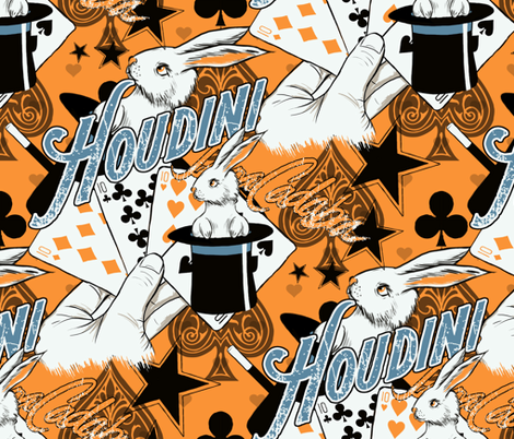 Houdini Magic Show fabric by emily_s_designs on Spoonflower - custom fabric