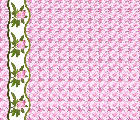plumeria_2_border_9x72_horizontal fabric by khowardquilts on Spoonflower - custom fabric