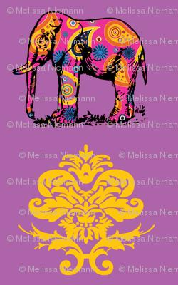 Paisley Elephant Damask