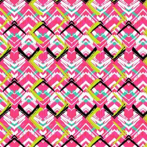Grunge pink geometry
