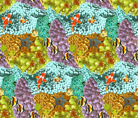 The_Great_Barrier_Reef fabric by house_of_heasman on Spoonflower - custom fabric
